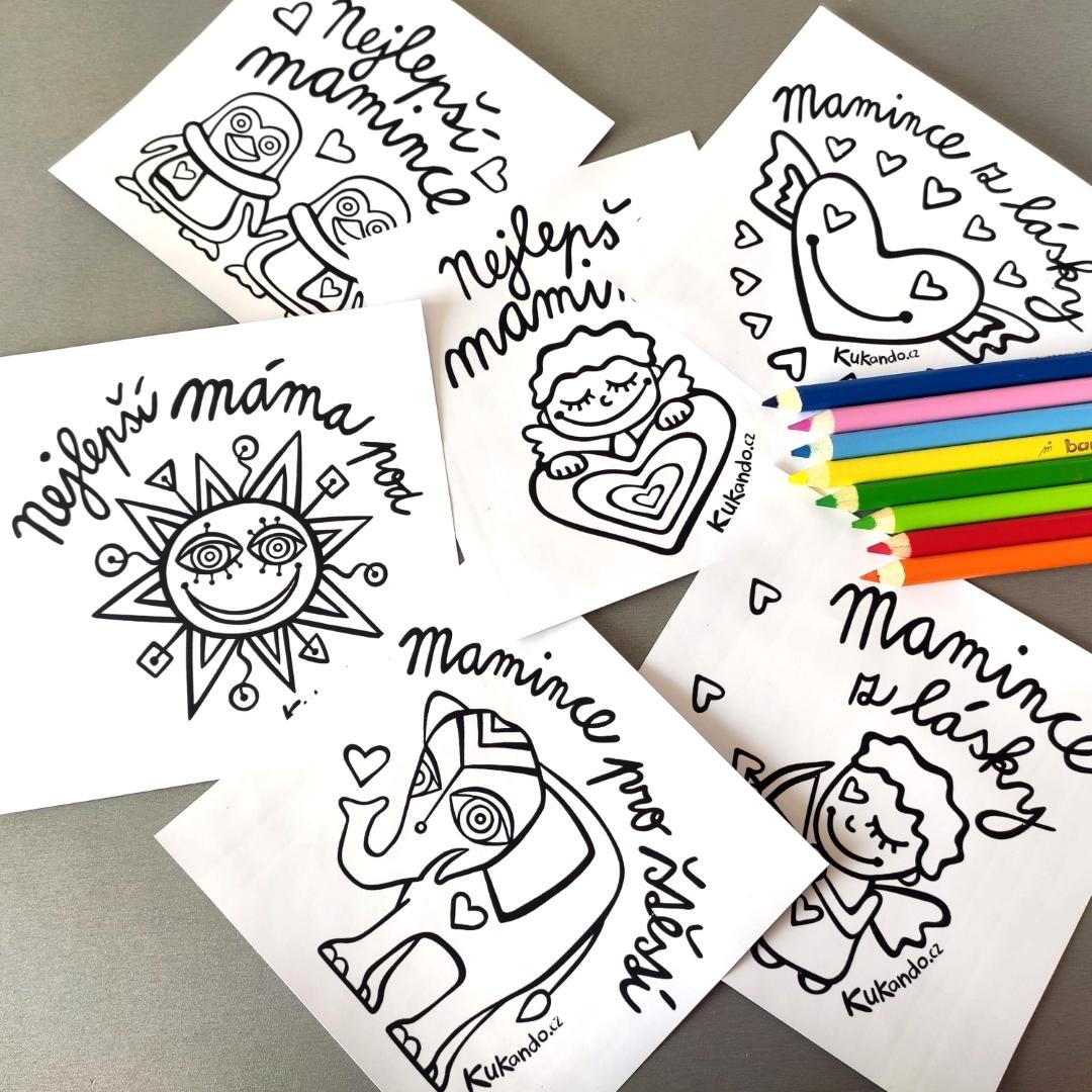 Omalovánky a hrnečky pro maminky ke Dni matek
