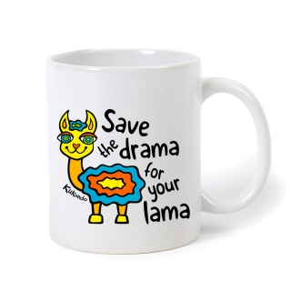 Hrnek  SAVE THE DRAMA FOR YOUR LAMA